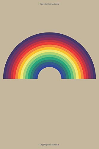 70s Style Rainbow: Blank Lined Notebook, Journal or Diary