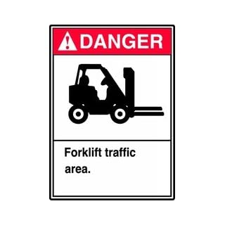 Accuform Signs Forklift Traffic Sign, 10 x 7In, ENG, SURF