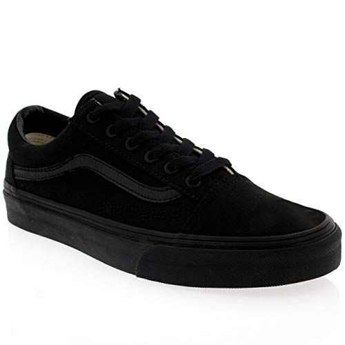 Mujer Vans Old Skool Lienzo Skate-Hi Plimsoll Zapatillas Zapato Negro -  Negro Negro - 42 155876edb92