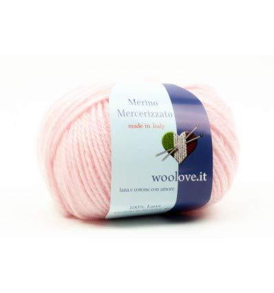 woolove Mercerizzato 100% Merinowolle Maschinenwaschbar bis 40 ° Wollprogramm, sehr große Auswahl an Modefarben, speziell für Stricken, Webstuhl oder Maschine. -