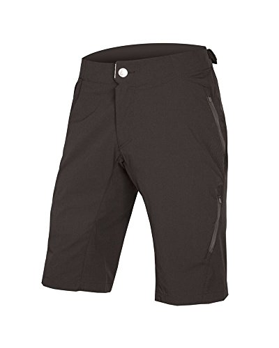 Baggy Mountain Bike Shorts (Endura Singletrack Lite Mountain Bike Baggy Short II, Herren, Schwarz, Large)