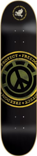 element-protect-freedom-skateboard-deck-peace-sign-logo-7625-with-griptape