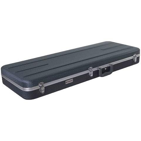 CrossRock cra800e ABS plastica rigida Custodia per chitarra elettrica Bass Grey