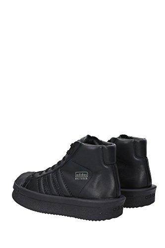 BA9763MADTODONROBLAC Rick Owens Sneakers Unisex Cuir Noir Noir