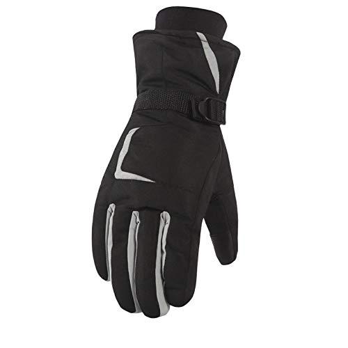 AmDxD Damen Winddicht Handschuhe Reithandschuhe Outdoor Skihandschuhe Baumwolle mit Touchscreen Funktion Grau Handschuhe Größe Mittel - Strass Damen Handschuh