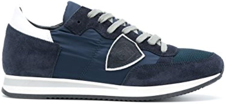 Philippe Model Herren TRLU1111 Blau Stoff Sneakers