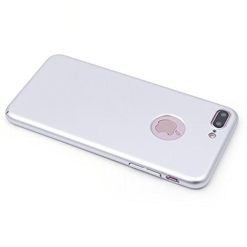 iProtect Apple iPhone 7 Plus, iPhone 8 Plus Hülle Farbverlauf Hard Case Schutzhülle orange matt silber.