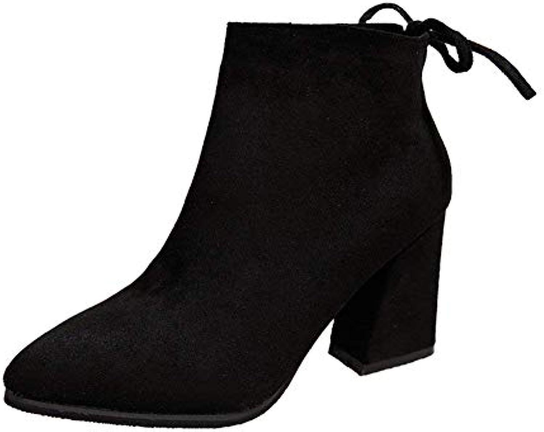 DEED Signore 'Stivali grandi Stivali Big Bows Bows Bows Bow Bows Donna' S scarpe,33 Eu,nero6Cm | acquisto speciale  7ddee0