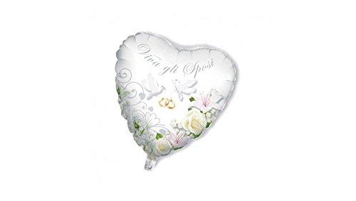 mdf 'Balón Globo con forma de corazón 80cm Pareja Novios Viva los Novios–Idela Decoración Guirnalda Boda de boda para pares y unioni Civili, aniversarios etc.