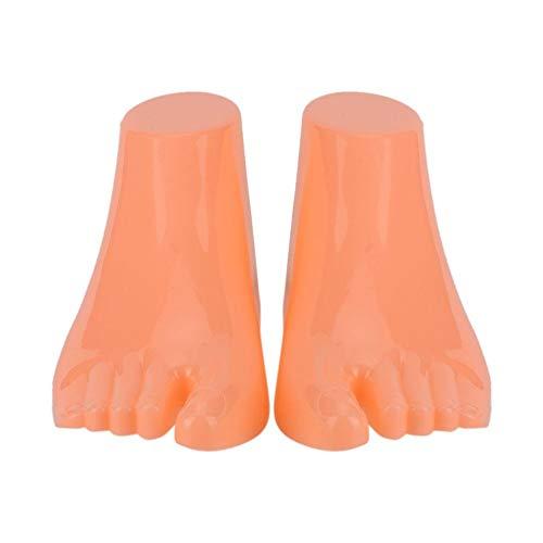 Boquite 1 Paar Weibliche Schaufensterpuppe Links & Rechts Set Fuß für Socken Schuhe Schmuck Display Modell(Kid Hautfarbe bodenlos) -