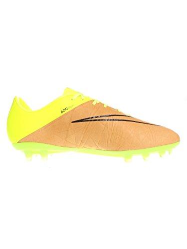 Nike  Hypervenom Phinish LTHR FG, Chaussures de foot pour homme - Grün/Beige (Canvas/Volt/Black 707)