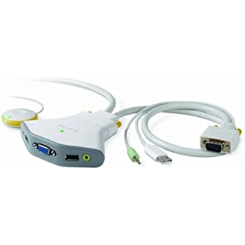 Belkin 2-Port Switch 2 mit Fernbedienung für PC USB Audio