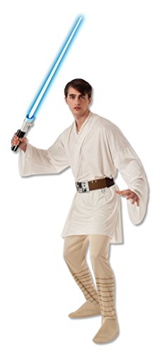 Men's Luke Skywalker Star Wars Movie Film Characters Mens Adults Fancy Dress