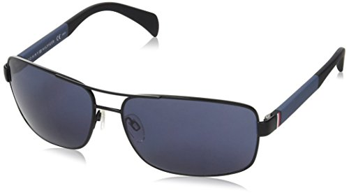 Tommy Hilfiger Herren TH 1258/S KU NIO 64 Sonnenbrille, Schwarz (Mtblack Grey/Blu),