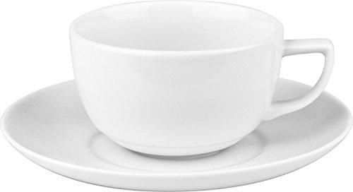 Wächtersbach Kaffeetassenset 8-tlg. Porzellan weiß