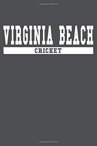 Virginia Beach Cricket: American Campus Sport Lined Journal Notebook