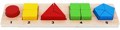 Toys of Wood Oxford forme geometriche in legno e frazioni bordo primi anni le risorse