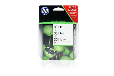 / 301, für DeskJet 3054 a 3X Premium Drucker-Patrone, Schwarz, Cyan, Magenta, Gelb, 2X 190, 1x 165 Seiten, 2x3 & 1x3 ml ()