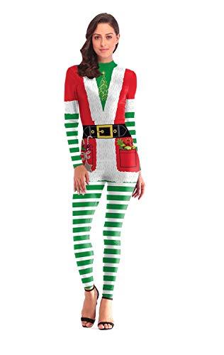 Costumi per natale, tuta magro per donna, abiti da ruolo per adulti, costumi teatrali, per feste di natale, feste di compleanno e varie feste di festa,m