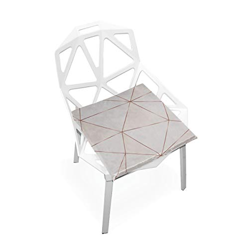 Enhusk Sitzkissen Für Küchenstühle Kupfer Metallic Polygonal Textur Bronze Glitter Weiche rutschfeste Memory Foam Stuhlkissen Kissen Sitz Für Home Kitchen Schreibtisch 16x16 Zoll Schaum Sitzkissen -