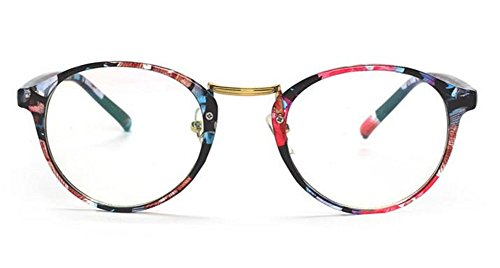 Hippolo Unisex Wayfarer Nicht verschreibungspflichtige Brillen Rahmen Clear Lens Brillen...