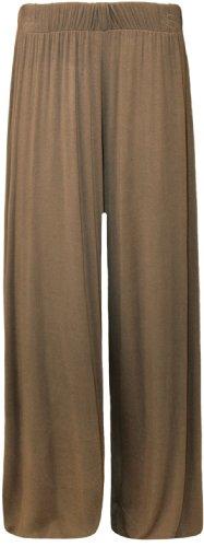 Womens Plus Size Flared Wide Leg Palazzo Trousers. Size 16-18