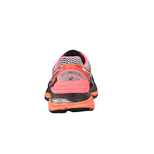 Asics Gel-cumulus 18 G-tx, Entraînement de course femme Multicolore (Black/silver/flash Coral)
