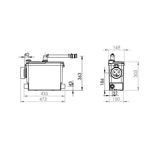 sfa saniflo   saniaccess 4 - grey water pump