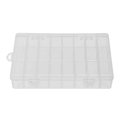 TiooDre Aufbewahrungsbox, Kunststoff, 24 Fächer, Schmuck, Organizer, Trenner für Ohrringe, Container, Werkzeug