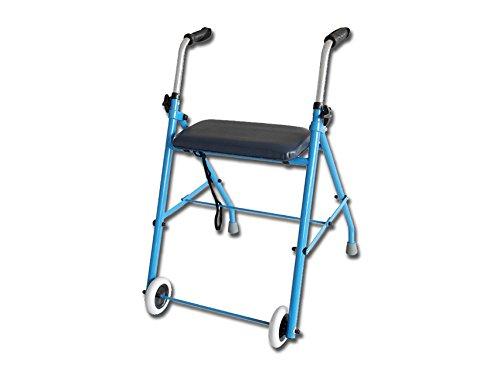 GiMa 43132Gehhilfe mit Sitz, 6.4kg Gewicht, 100kg Ladekapazität (43132)