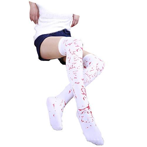 Kostüm Freund Mädchen Pair - Luo HUI Fang Halloween Neuheiten Schädel Socken-Kniestrümpfe Maskerade Cosplay Party Rollenspiele Requisiten Nächte