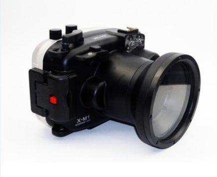 CameraPlus - Unterwasser digitalkamera - Unterwassergehäuse für Fujifilm X-M1 16-50mm Objektiv bis 40 M. Wasserdicht leicht bedienbar