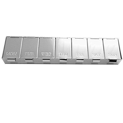 ile Pillendose 7 Tage Medica 3,5x10 cm Silber Plalted versilbert in Premium Verarbeitung ()