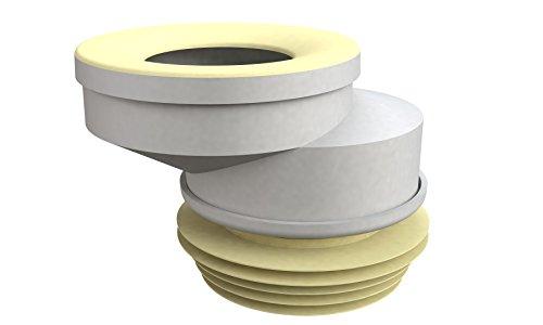 Bonomini 8428LX10B0 Manicotto WC, Bianco/Giallo