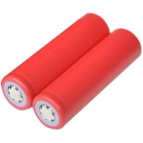 2 piezas de Sanyo 3.7V 2600MAH UR18650ZY 18650 batería recargable.