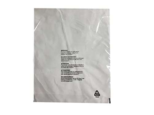 (100Stück) 400x 500mm, 40x 50cm Gran Kleidung T-Shirt klare Schutz Display 5Sprache Mail Filtersäcke mit Kind Sicherheit ersticken Warnung Verpackung Poly Versandtaschen Versandtasche