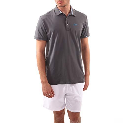 Sportkind Jungen & Herren Tennis/Golf/Sport Poloshirt, grau, Gr. XXL