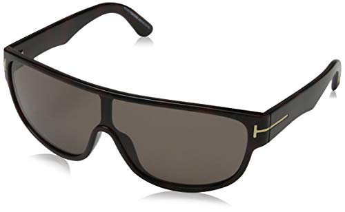 Tom ford - occhiali da sole ft0292 wayfarer, dark brown & grey frame / gradient brown