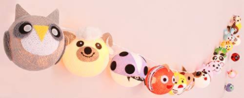 Lichterkette \'Cottino\' mit bunten Tieren