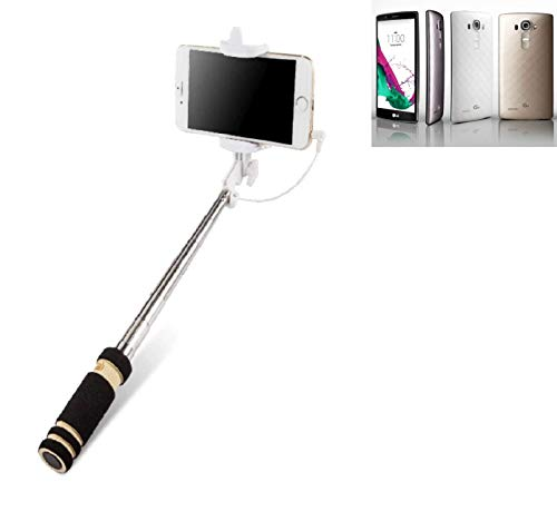 K-S-Trade® per LG Electronics G4 Bastone Selfie Selfiestick Asta Autoritratto telescopica Fotografico Monopiede Selfie Stick per LG Electronics G4 Nero