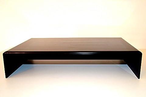 Prodest / Monitor Ständer Erhöhung / Bildschirm Standfuß / TV Bank Aufsatz aus Acrylglas - Breit 47,5 cm x 27 cm x 10 cm (Schwarz Glas-lcd-tv-ständer)