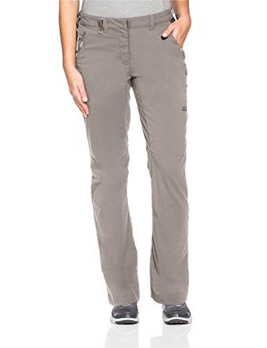 Jack Wolfskin Damen Activate Light Pants Women Hose, Moon Rock, 46