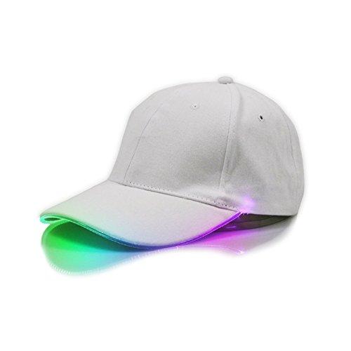 JAGETRADE Mode Cool LED Leuchten Baseball Hüte Leucht Glow Einstellbare Unisex Caps Sonnenhut Outdoor Angeln Jagd Desert Hawaiian Bunte
