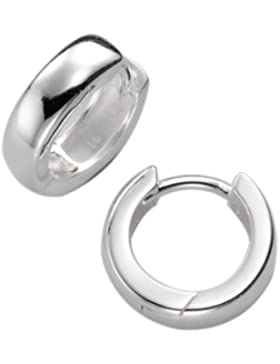 ZEEme Damen-Creolen 925 Sterling Silber 14 mm 273210215