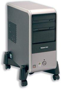 Compucessory Supporto mobile per CPU regolabile in altezza 30-255 mm, colore: Nero