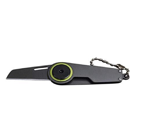 Koojawind Multi Outdoor Survival Seilschneider Schneiden Seil Lap-Belt Cut Haken Daumen Griff Tasche SchlüSselbund Utility Key Ring (Multi Utility-messer)