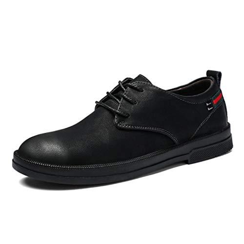 Xxoshoe Alivio del Dolor comprobado Fascitis Plantar Ortopédica Cómodo Diabético Pies Planos Gramercy Zapatos de Vestir para Hombres Negro (Color : Negro, tamaño : 43)