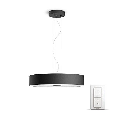 Philips Hue White ambiance Being - Lámpara colgante LED negra con mando, Iluminación inteligente, compatible con Amazon Alexa, Apple HomeKit y Google ...
