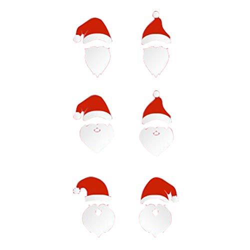 (BESTOYARD Weihnachten Wandaufkleber mit Weihnachtsmann Muster Selbstklebende Abnehmbare DIY Home Decor Aufkleber Gläser Fenster Tür (weiß))