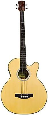 Coban Guitars–Guitarra acústica Bass 4ecualizadores Inc plomo y correa de lujo (mate) madera de zebrano